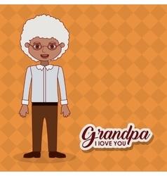 Grandfather grandpa cartoon design vector