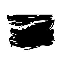 Ink brush stroke and texture black paint vector