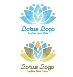 Lotus and yoga logo vector