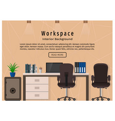 Modern office workspace workplace organization vector