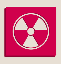 Radiation round sign grayscale version of vector