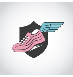 Sport running shoes vector