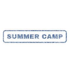 Summer camp textile stamp vector