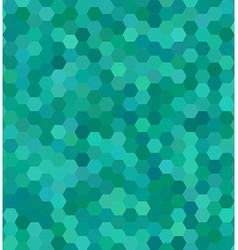 Teal color hexagon mosaic background design vector
