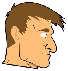 Uomo volto cartoon realistico vector