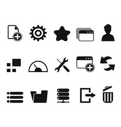 web Dashboard icons set vector image vector image