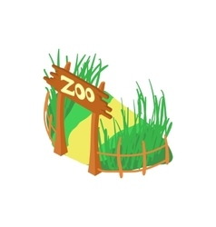 Zoo icon cartoon style vector image