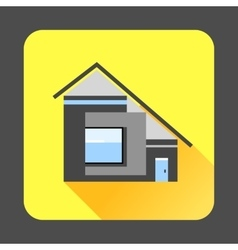 Modern residential house icon flat style vector