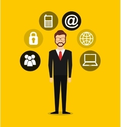 Business person worker icon vector