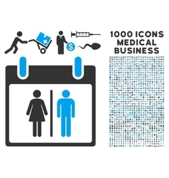 Water closet calendar day icon with 1000 medical vector