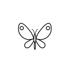 Butterfly line icon spring easter elements vector