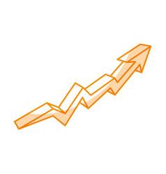 Arrow increase isolated icon vector