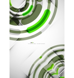 Futuristic rings background vector