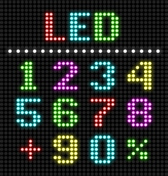 LED display numbers vector image