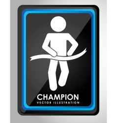 Champion design vector