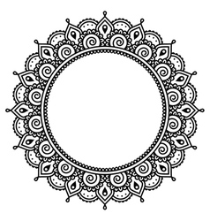 Mehndi indian henna tattoo round pattern vector
