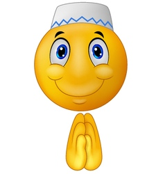Greeting muslim emoticon vector