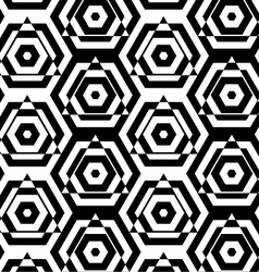 Black and white alternating triangles cut through vector