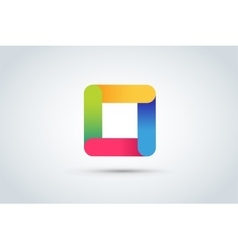 Abstract square logo template vector
