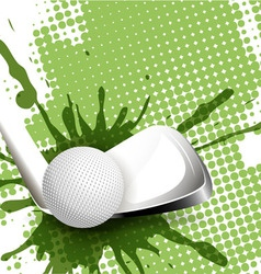 golf tee-off vector image