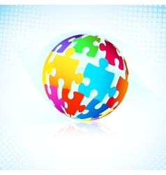 Multicolored puzzle pieces vector