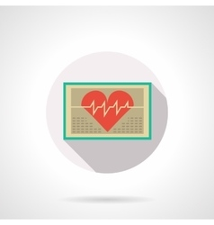 Heart monitoring flat color design icon vector