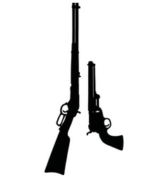 Classic wild west guns vector