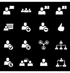 White office people icon set vector