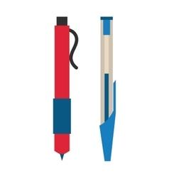Pen on white vector