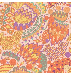 Vintage ethnic seamless background boho pattern vector