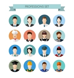 A set of professions people vector image vector image