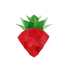 abstract origami strawberry vector image