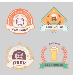 Beer bub bar label design logo vector image