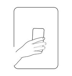 Border smartphone in hand 2 vector