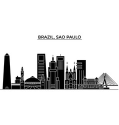 Brazil sao paulo architecture city skyline vector