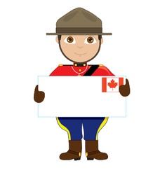 Canada Sign Boy vector image vector image