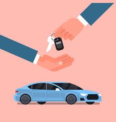 Car purchase sale or rental concept seller man vector