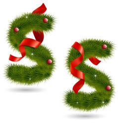 Christmas-related decorative alphabet vector
