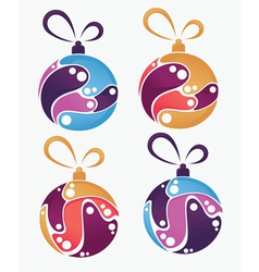 Collection of christmas balls and decoration vector