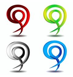 design element business logo vector image vector image