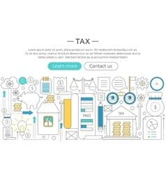 Elegant thin flat line tax taxes concept vector