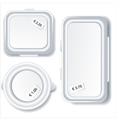 Empty plastic container vector