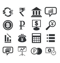 Finance icon set 1 simple vector image