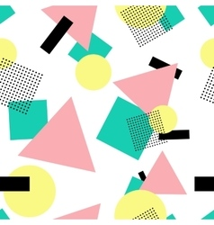 Geometric 80s fashion style seamless pattern vector