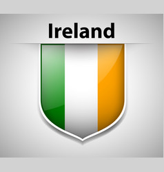 Ireland flag on badge vector