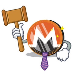 Judge monero coin character cartoon vector