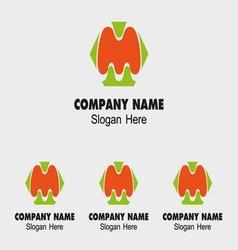 M alphabet logo letter M icon vector image