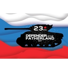 Military Tank Happy Defender of the Fatherland vector image