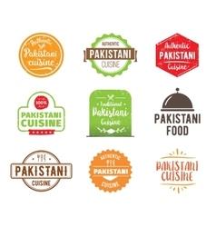 Pakistani cuisine label vector