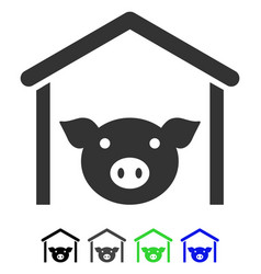 Pig farm flat icon vector